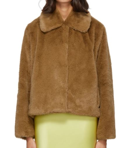 Brown Faux-Fur Marcella Koba Jacket