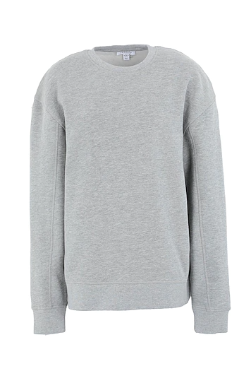 GREY FLATLOCK OVERSIZED SWEATSHIRT