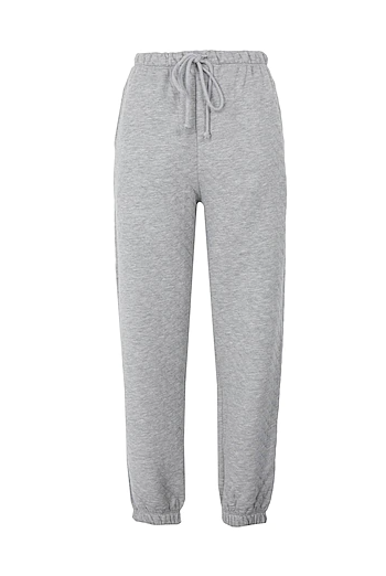 GREY QUILTED JOGGERS