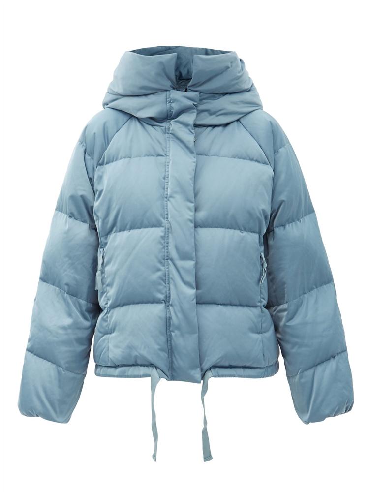 후드 퀼팅 다운 재킷