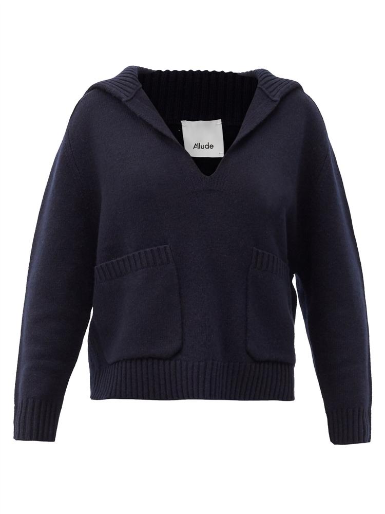 칼라 브이넥 캐시미어 스웨터
