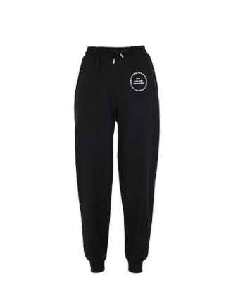 2ND LIFE GRAPHIC PRINT JOGGERS IN BLACK 캐주얼 바지