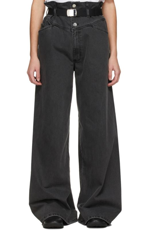 Black Sterling Ruby Edition Oversized Wide-Leg Jeans