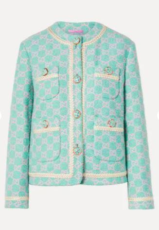 Cotton-blend jacquard jacket