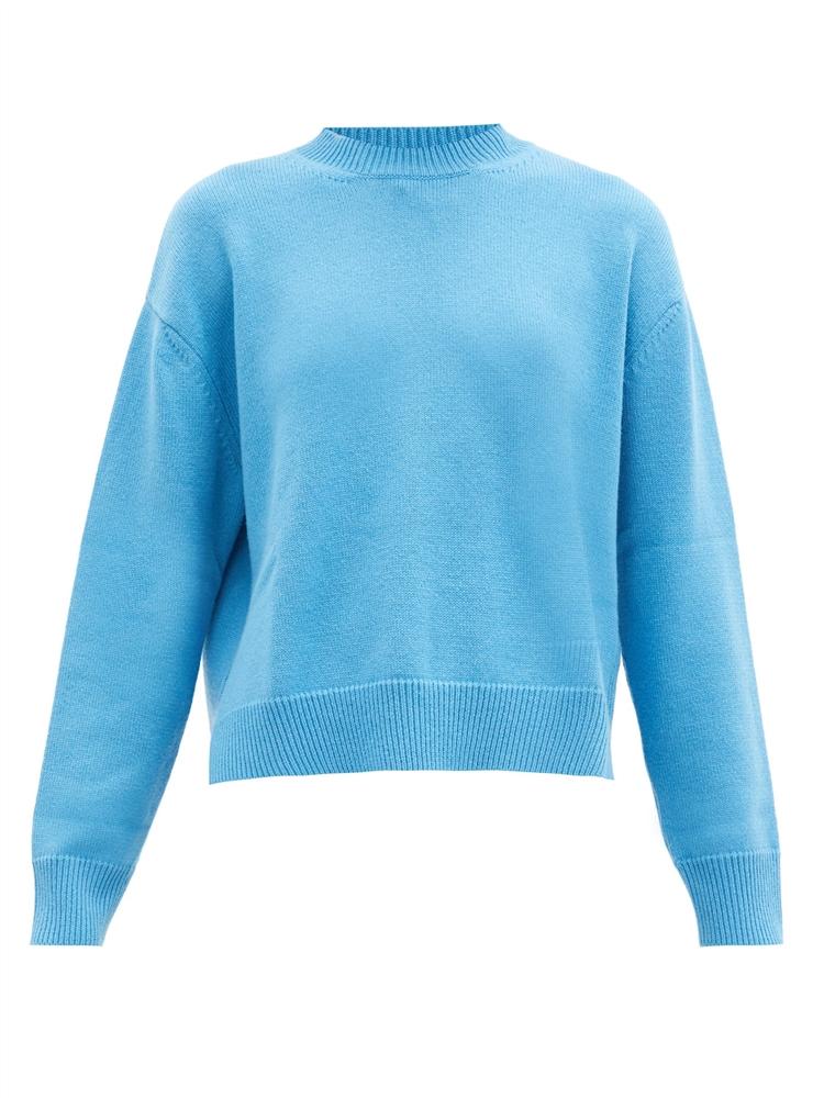 드롭 슬리브 캐시미어 스웨터
