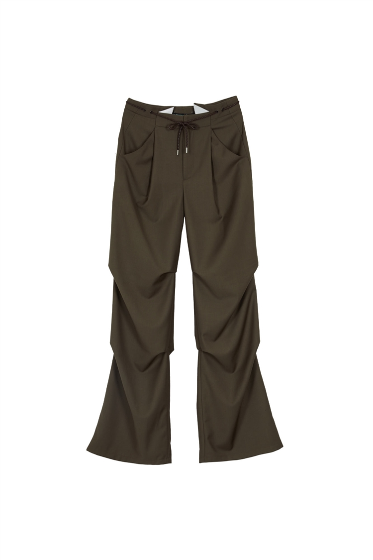 KARIN TAILORED REWORK PANTS apa424w(KHAKI BROWN)