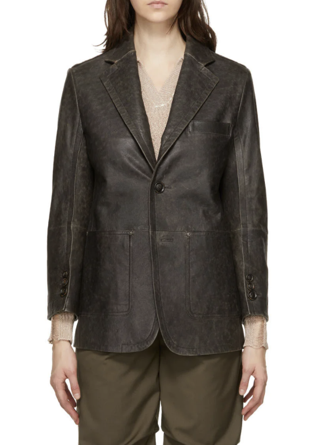 블랙 램스킨 뉴 대디 클래식 재킷