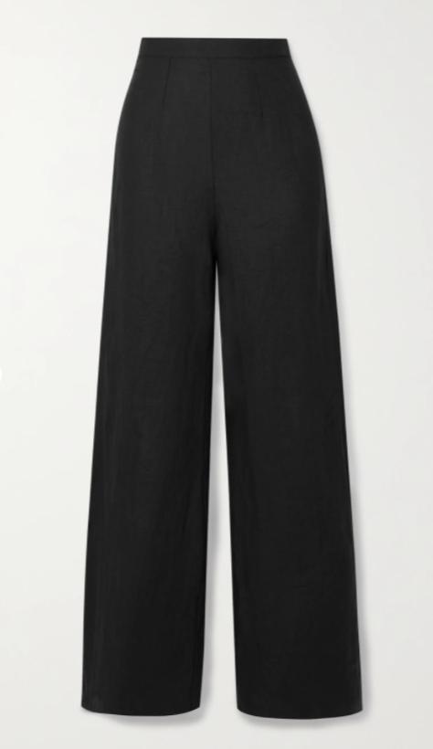 + NET SUSTAIN Sibyl linen wide-leg pants
