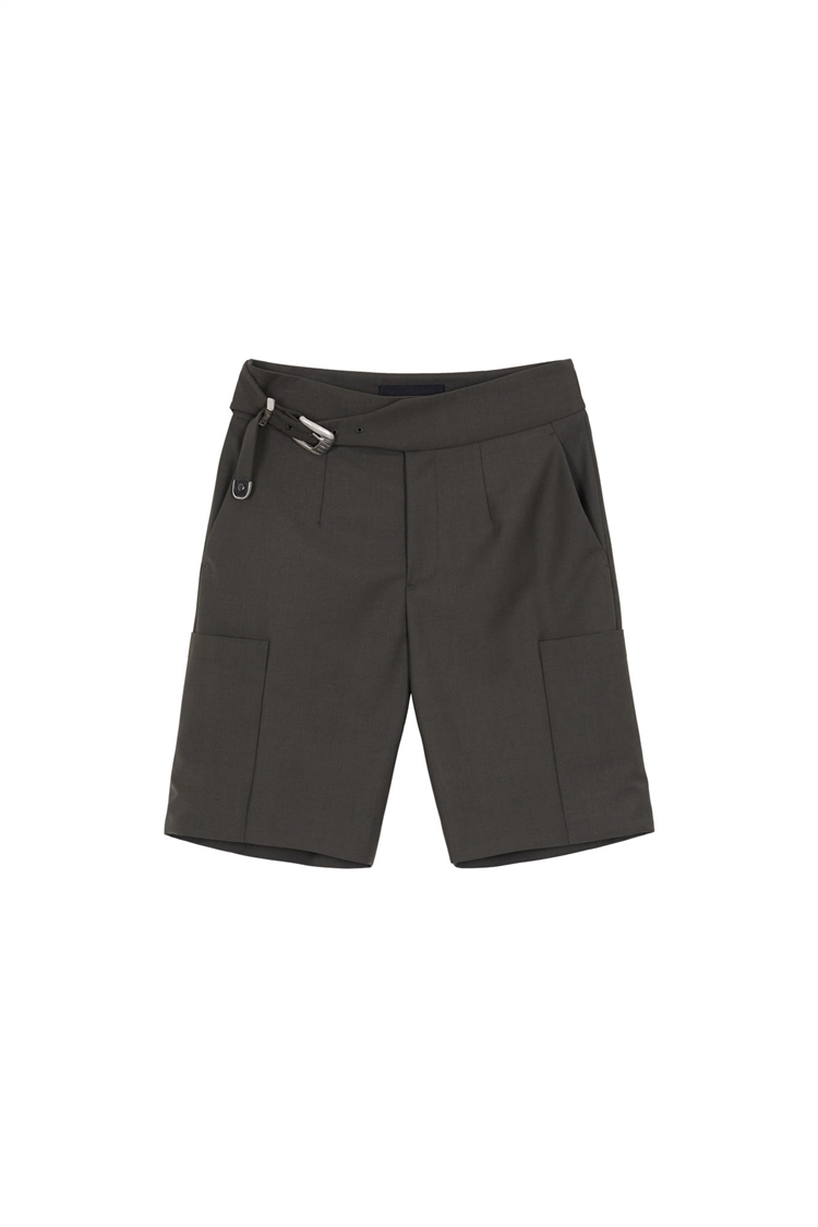 DIEGO BIKER FIT SHORTS apa416w(KAKHI GREY)