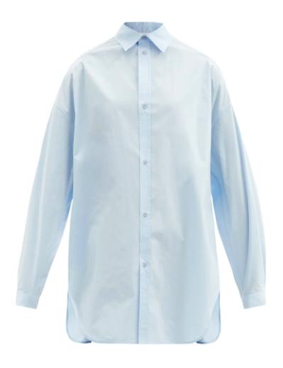 오버사이즈 드롭 숄더 코튼 셔츠