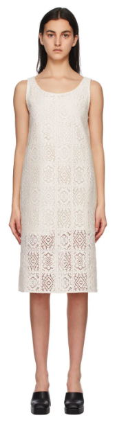 Off-White Crochet Dress