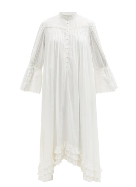 브론테 레이스 트리밍 오가닉 코튼 셔츠 드레스