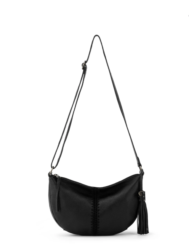 Silverlake Crescent Leather Crossbody