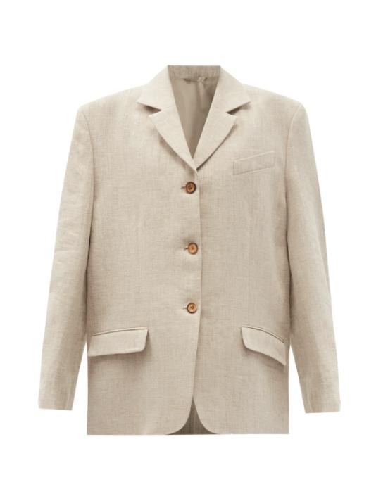 싱글 브레스트 헴프 블렌드 필라필 재킷