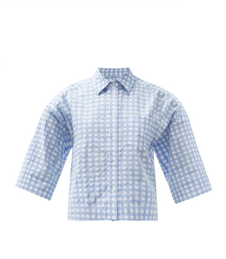 니코 코튼 블렌드 깅엄 셔츠