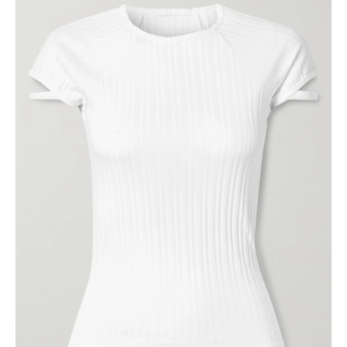 Ribbed cotton-jersey T-shirt
