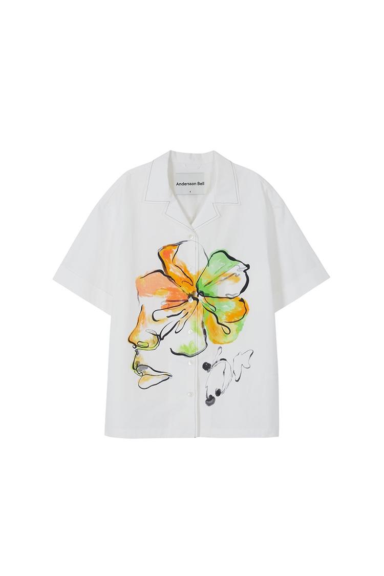 FLEUR PRINTED SHIRTS atb576w(WHITE)