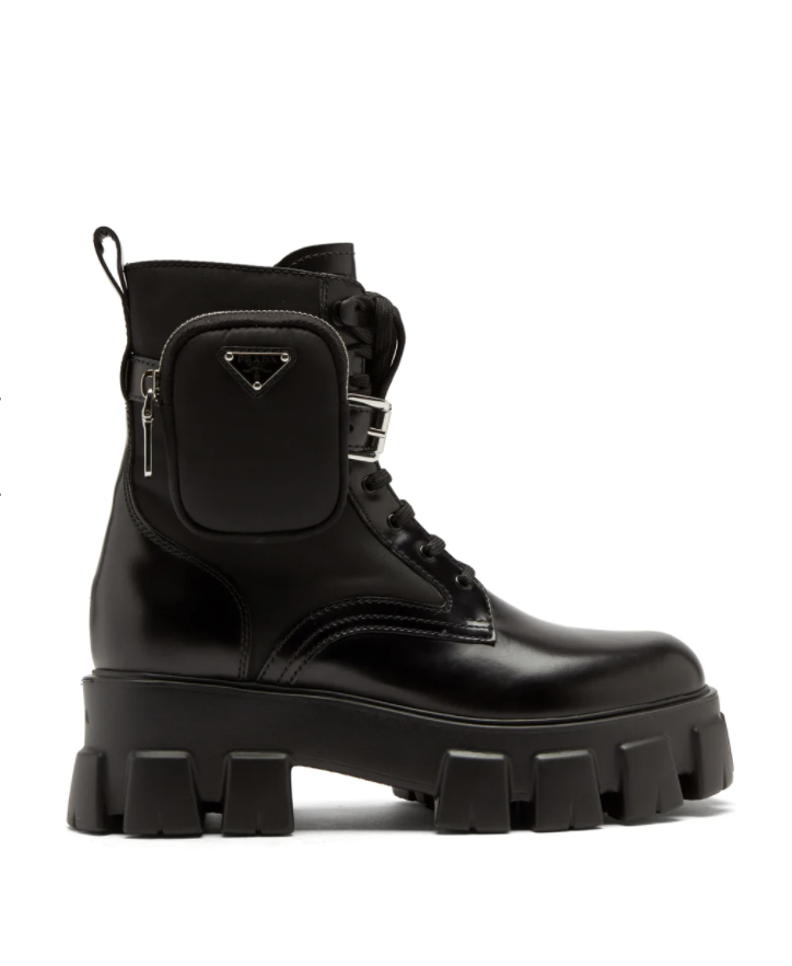 Monolith chunky-sole leather ankle boots