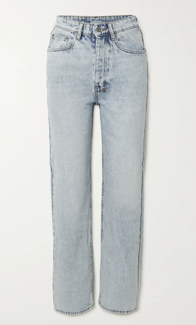 Brooklyn high-rise straight-leg jeans