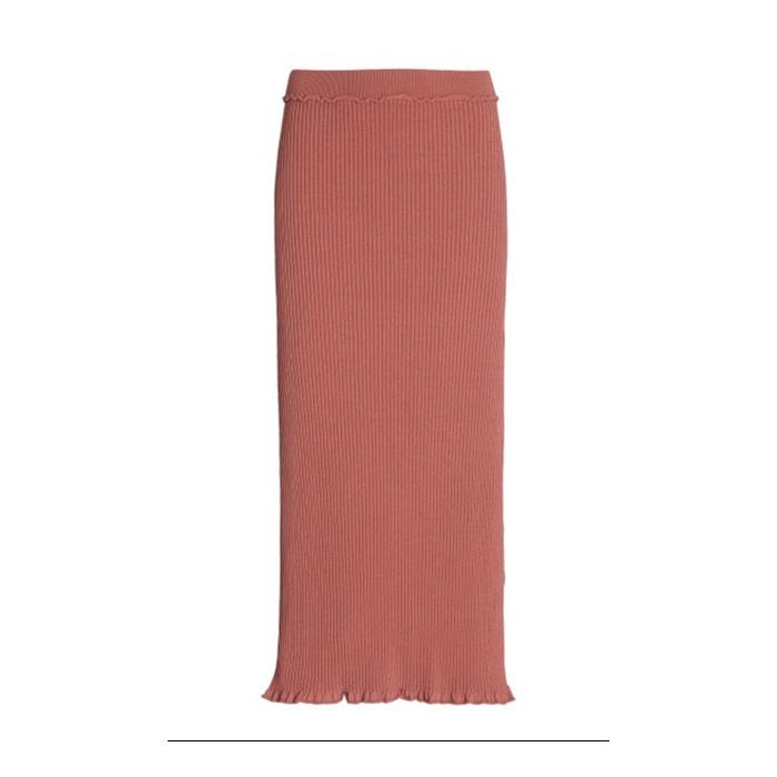 Turley Ribbed-Knit Midi Skirt