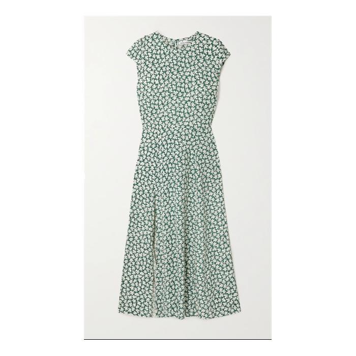 + NET SUSTAIN Gavin open-back floral-print crepe midi dress