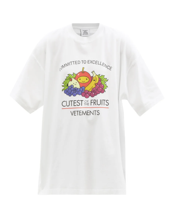 Cutest of the Fruits 프린트 코튼 티셔츠