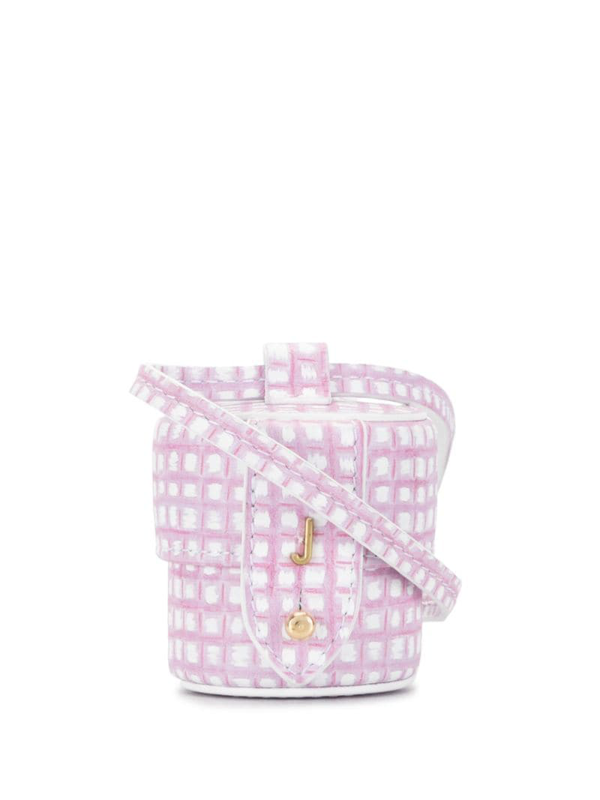 Le Micro Vanity mini checked leather shoulder bag