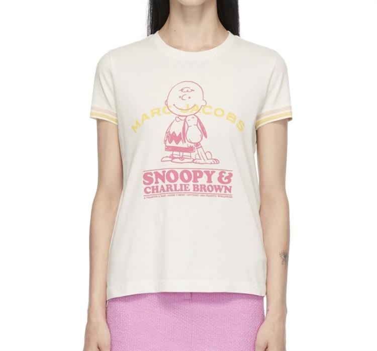 화이트 Peanuts 'Happiness Is' 티셔츠