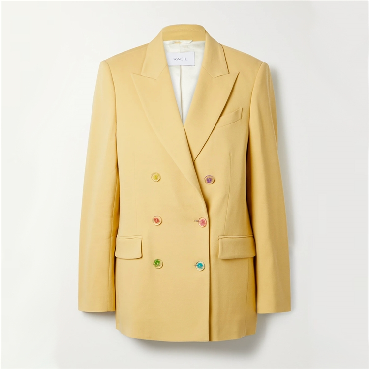 Cambridge double-breasted wool-blend twill blazer