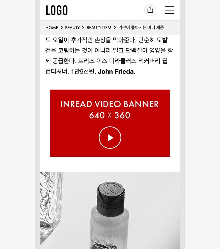 인리드 비디오 배너 (In-Read Video Banner)