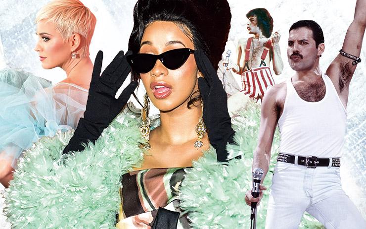 프린스, 프레디 머큐리, 데이비드 보위의 익살스럽고 파격적인 캠프 스타일이 다시 음악과 패션 신에서 떠오르고 있다.