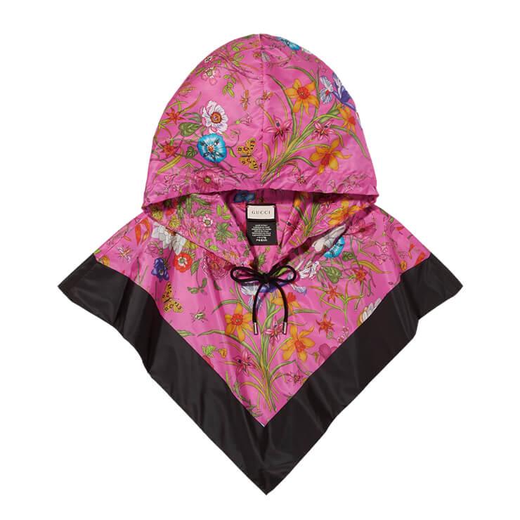 플로럴 패턴의 후드는 60만원대, Gucci by Net-A-Porter.