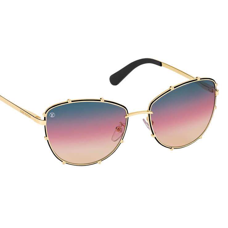 일몰이 떠오르는 셰이드의 선글라스는 가격 미정, Louis Vuitton.