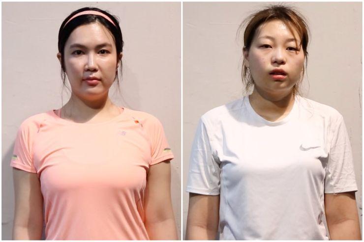 바디챌린저 김혜원(좌), 정윤정(우)