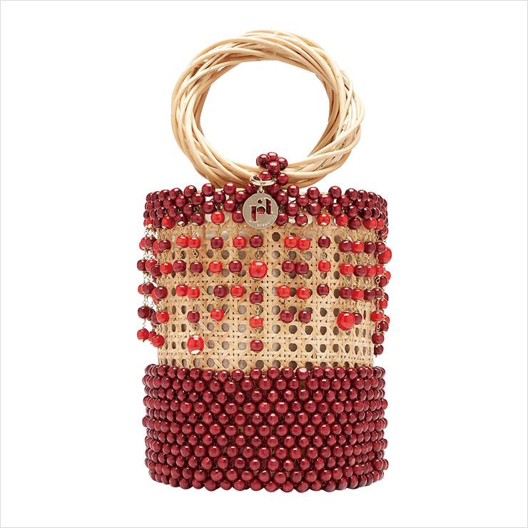 비즈 장식의 라탄 바스켓 백은 90만원 대, Rosantica by Michela Panero by Matchesfashion.com.