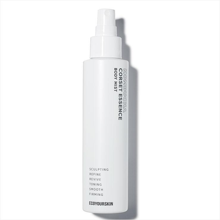 홍삼, 콤부차 추출물이 혈액순환을 촉진해 피부의 탄력 저하와 색소 침착을 해결해 준다. 콤부차 코르셋 에센스 바디 미스트, 5만5천원, Eco Your Skin.