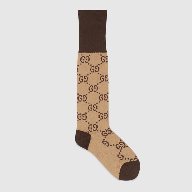GG 패턴 코튼 블렌드 양말, Gucci.