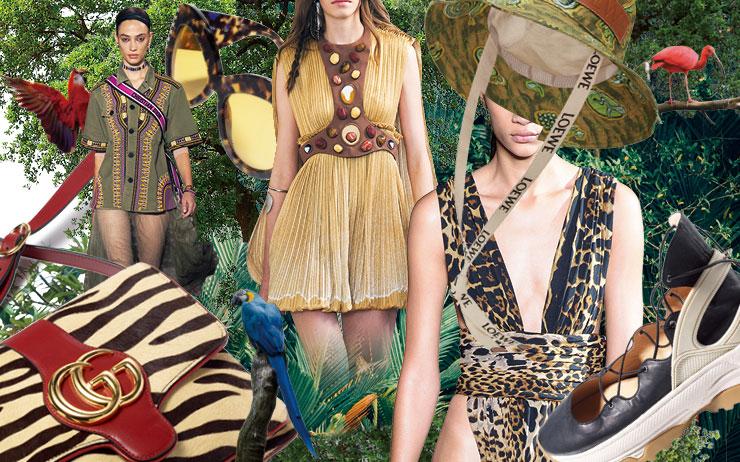 밀림 속 탐험가의 발자취를 따라간 패션 정글의 법칙.