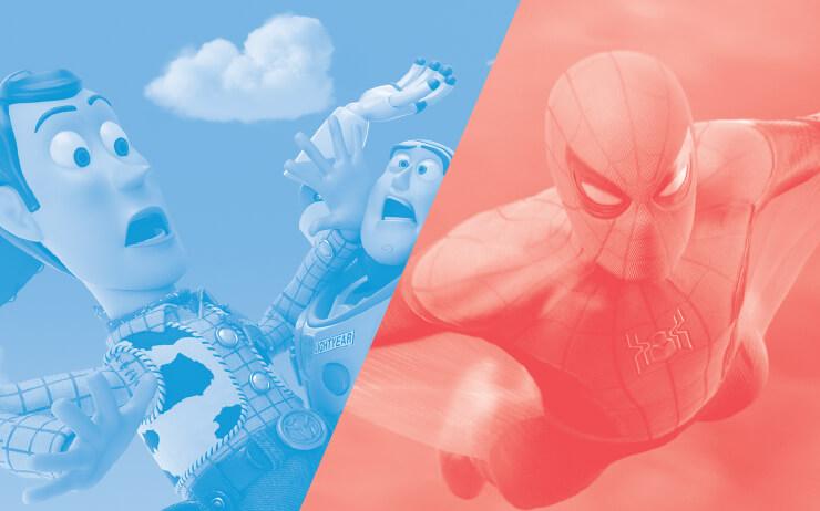 누가 만들었을까, <토이 스토리>와 <스파이더맨>은. 이들의 영광 뒤에는 버티고 버틴 픽사와 마블이 있다.