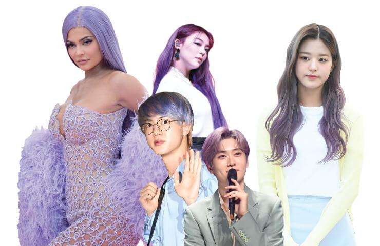 (왼쪽부터)카일리 제너,에일리,BTS 진,NCT127 재현,아이즈원 장원영.