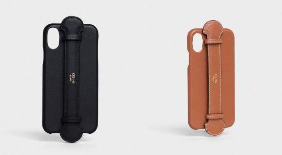 부드러운 카프스킨 소재, 스트랩이 장착된 iPHONE X & XS 케이스는 485달러, Celine.