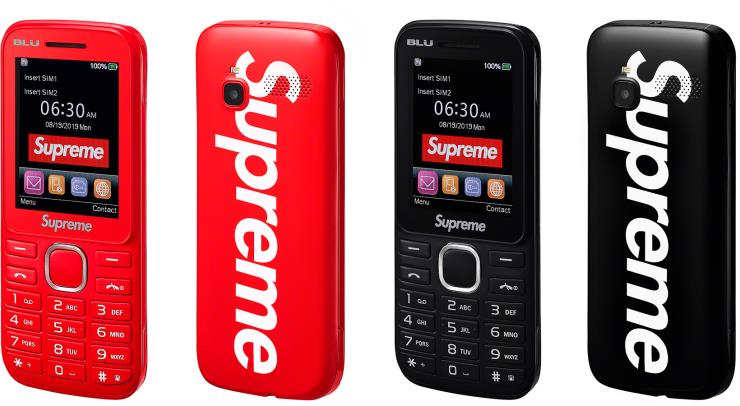 Supreme X BLU (Burner phone) 피쳐폰