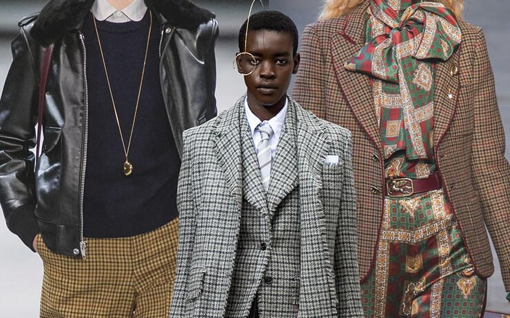 체크 패턴과 베레, 폴로 셔츠와 옥스퍼드 셔츠, 케이블 니트, 정장풍의 재킷까지.