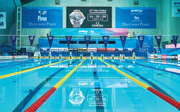 세계수영선수권대회 공식 타임키퍼로서 오메가의 역할은 복잡하면서도 단순하다.