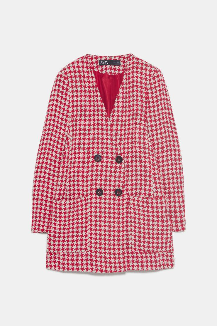 존재감을 자랑하는 깅엄 체크 재킷은 9만9천원 Zara