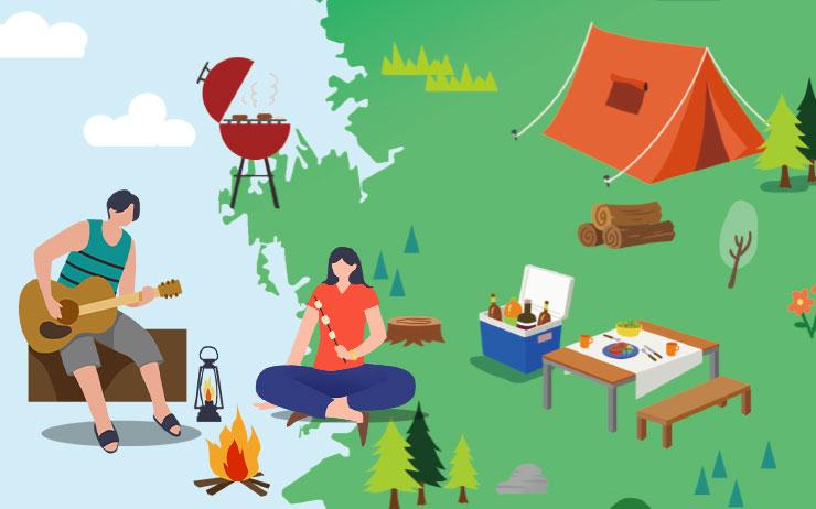 장비를 대여하거나 챙겨 가야 하는 수고는 따르지만, 번거로울수록 '진짜' 캠핑이다.