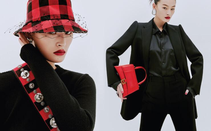 강렬하고 매혹적이다. 레드와 블랙의 대비가 자아내는 파워풀한 패션 신.