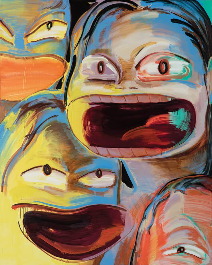 이은새, 밤의 괴물들-크게 웃는 여자들, Oil on Canvas, 2018