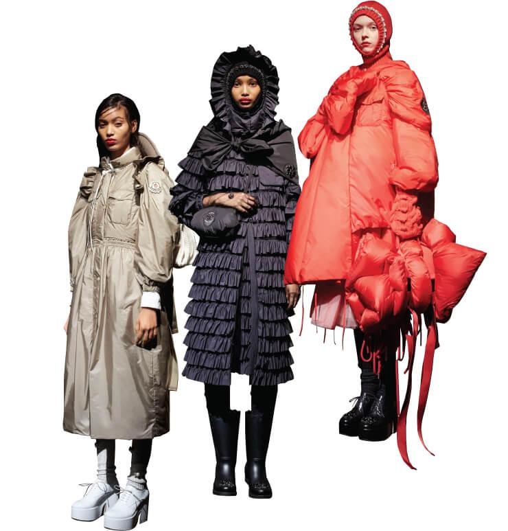 걸스카우트에서 영감을 받아 완성한 새로운 컬렉션의 키 룩들.