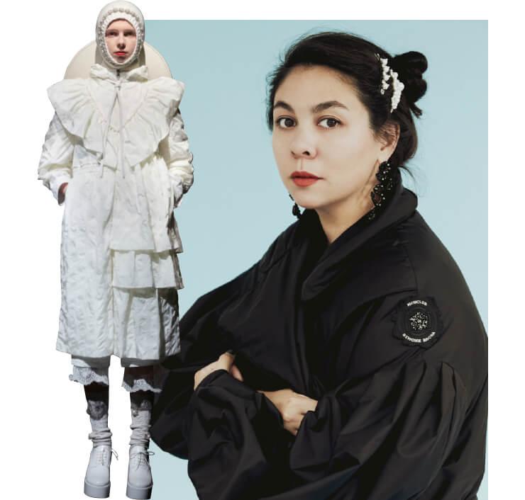 (왼쪽부터) 한국 여성들에게 추천해준 룩. 디자이너 시몬 로샤.